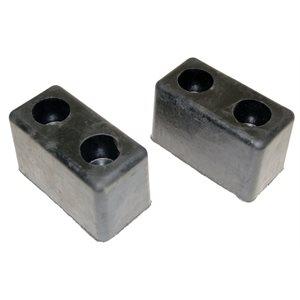 Bumper 3x3.5x6 Rubber Pair