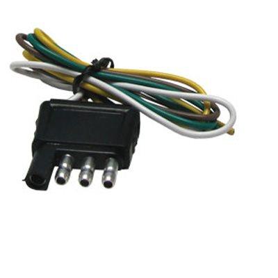 Plug 4-Flat 12in Trailer End
