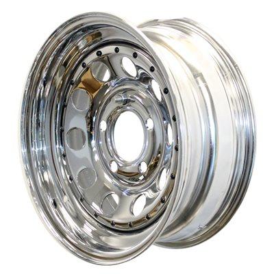 (WSL) Wheel 15x6 550 Mod Chr w / Riv